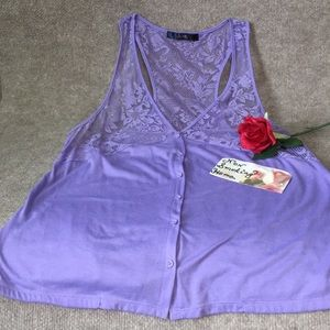 City Streets Intimates & Sleepwear - CITY STREETS SEXY LACE LAVENDER TOP.